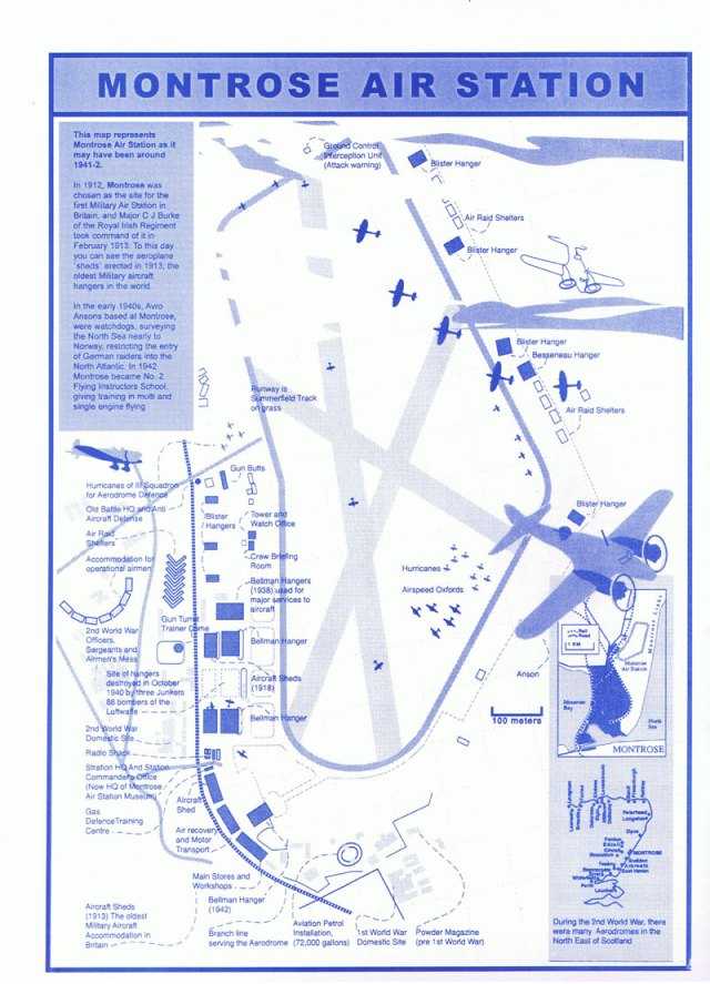 Map of the Montrose Air Station, Scotland, Britain's first operational military airfield.